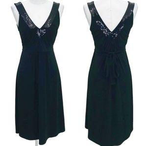MICHAEL KORS Designer Sequin V Neck Cocktail Dress